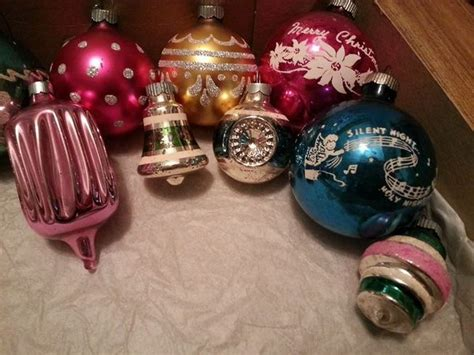 antique spotlight vintage christmas ornaments dusty old