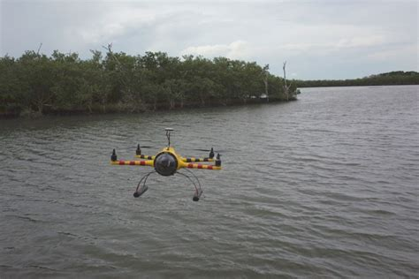 drone with pontoons drowned drones when a multicopter hits the water make