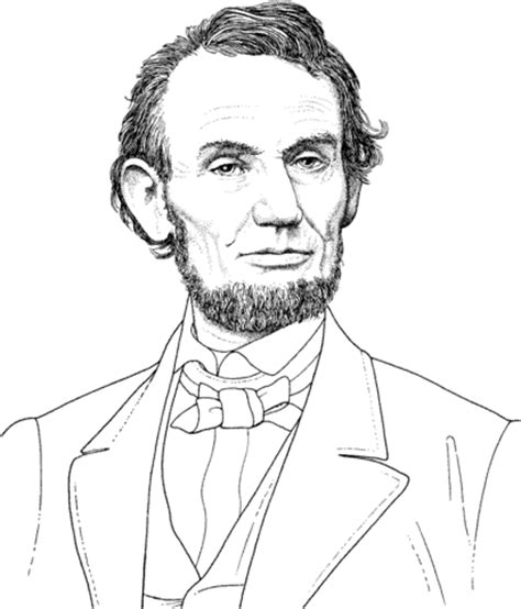 Coloring Pages Of Abraham Lincoln president abraham lincoln portrait coloring page free printable coloring pages