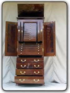 Unique Jewelry Armoire by Fivebraids Custom Woodworking Jewelry Armoire
