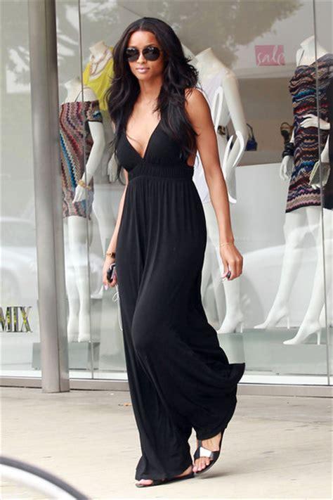 Maxi Stripe Fransisca black maxi dress s fashion