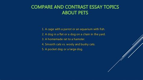 Compare Contrast The Olsens Vs The Trainas by Compare And Contrast Essay Topics