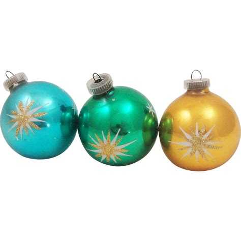 hand blown silvered glass christmas ornaments made in