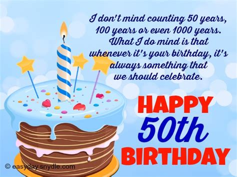 Happy Birthday Quotes For 50 Year Olds 50th Birthday Wishes Http Birthday Wishes Sms Com 50th
