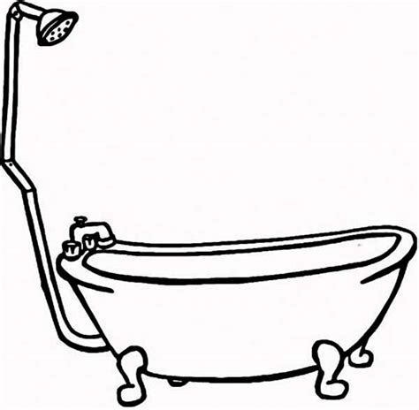 bathroom design template bath line drawing clipart best
