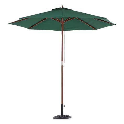Used Patio Umbrella 9ft 10ft Outdoor Patio Wooden Umbrella Common Sun Shade Garden Us O3h8 Ebay