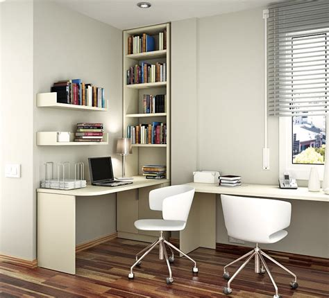 floating corner desk to optimally fill every corner of a