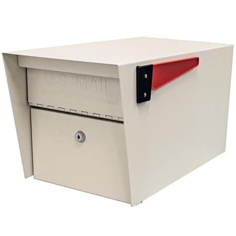 qualarc polished brass post mount non locking mailbox mb