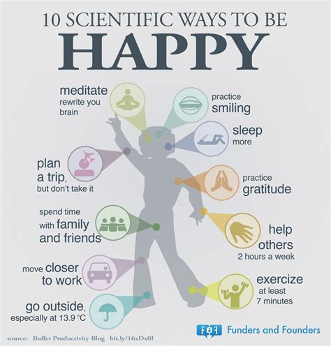 9 Ways To Get Through Days by 10 Scientific Ways To Become Happier Chart Bit Rebels