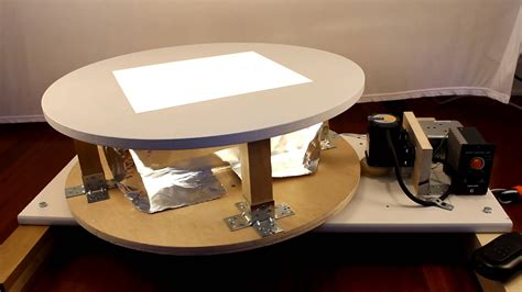 rotating table for product photography a lighted rotating product display table for photography