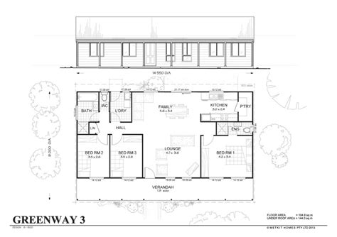 kit home floor plans greenway 3 met kit homes 3 bedroom steel frame kit