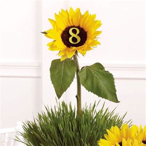 sunflower table l sunflower table number s u n f l o w e r s