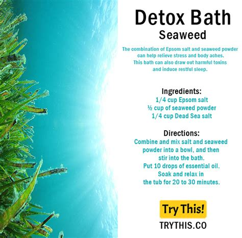 Seaweed Detox Bath by Top 25 Detox Bath Recipes Tips