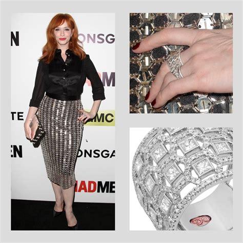 christina hendricks rings christina hendricks wearing demarco jewelry demarco