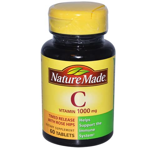 Tablet Vitamin C nature made vitamin c 1000 mg 60 tablets iherb