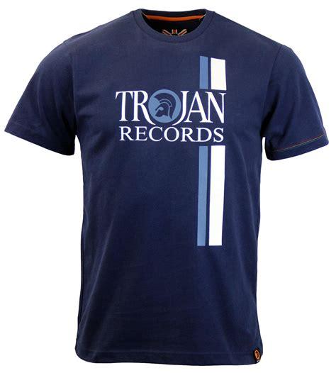 Tshirt Trojan Exclusive trojan retro mod ska racing stripe logo t shirt in navy