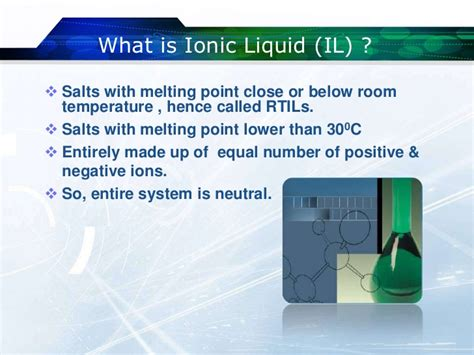 what is room temperature water ionic liquids green solvents for the future
