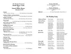 Program Template For Wedding by Wedding Program Template In Word And Pdf Formats