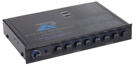 power acoustik pwm 70 car audio 7 band 1 2 din equalizer