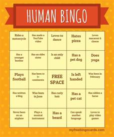 Human Bingo Template human bingo template wordscrawl