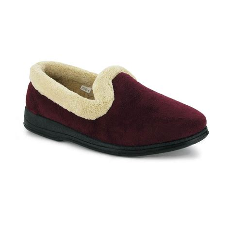 house slippers womens mirak vivian classic soft ladies bedroom house slippers womens shoes burgundy ebay