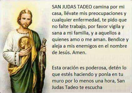 oraciones a san judas tadeo imagen relacionada oraciones catolicas pinterest fe