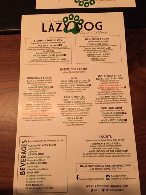 lazy cafe menu soft opening menu 1 yelp