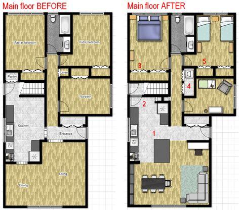 Kitchen Floor Plans Before And After Floor Plan C Timinski