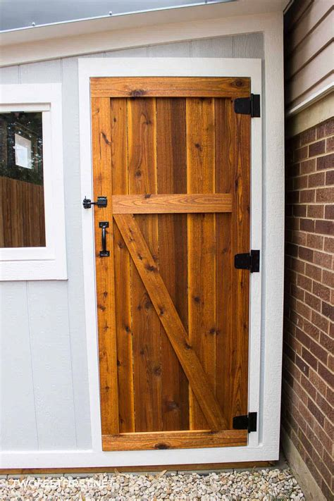 build  cedar shed door