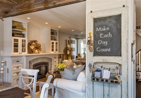 whitewashed brick reclaimed barn wood shiplap interiors