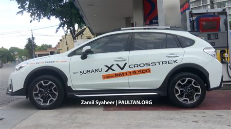 subaru xv crosstrek kit spied subaru xv crosstrek adds bodykit rm143k image 522723