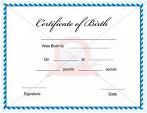 birth certificate on pinterest certificate templates and
