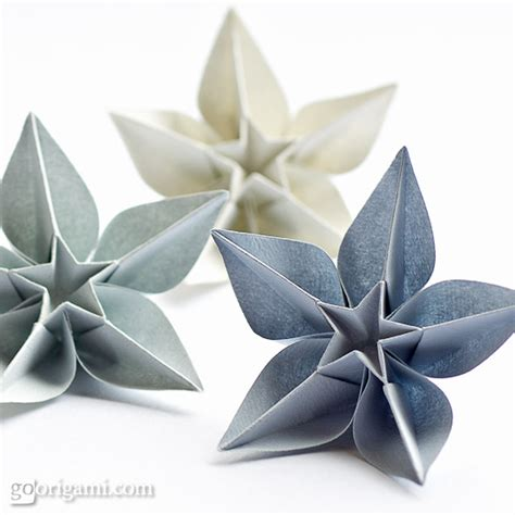 Flower Paper Folding - single sheet origami flowers