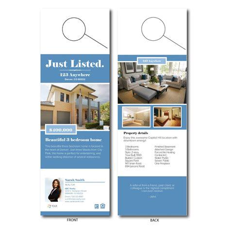 Free Real Estate Templates Open House Door Hanger Template