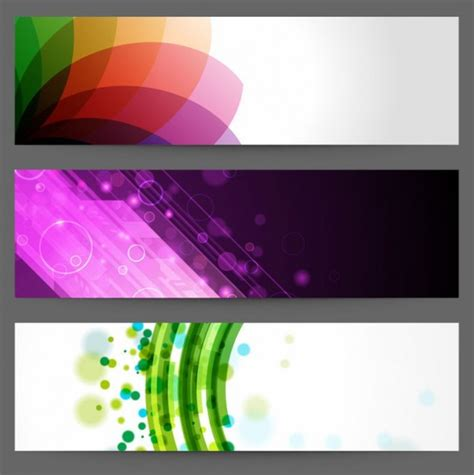 banner designs abstract design banners vector free download