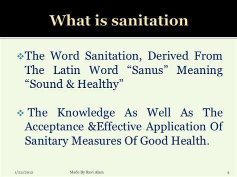 hygiene sanitation presentation by ravi alam