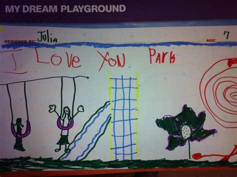 design a dream playground local kids help design unique oakland terrace playground
