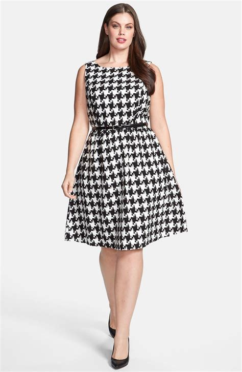 Midi Dress Houndstooth W7274udi D houndstooth dress plus size nordstrom