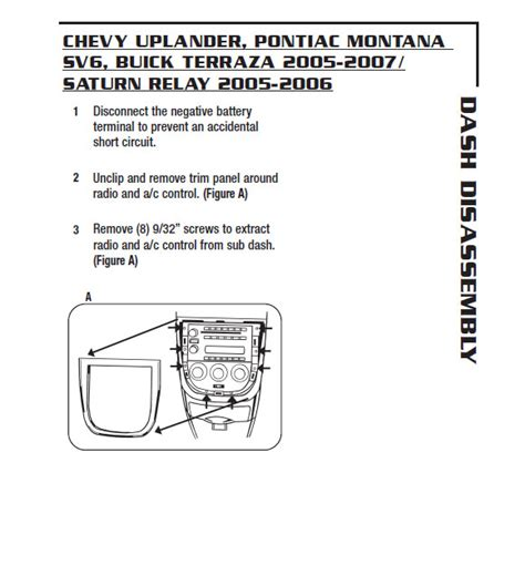 pontiac montanainstallation instructions