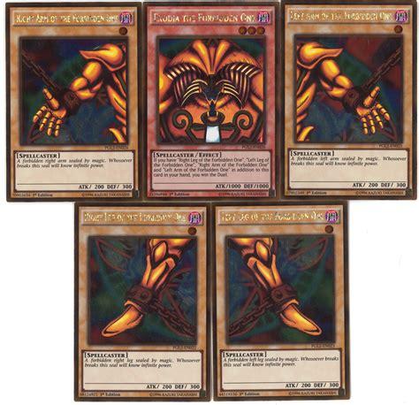yu gi oh premium gold series 2 compete exodia 1st edition set 5 pieces near mint nm da