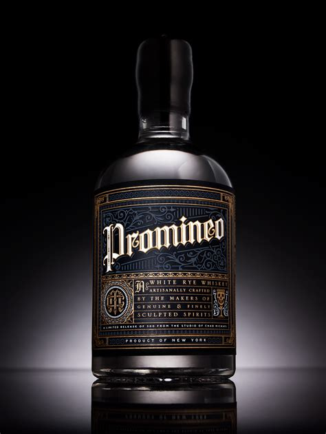 design whisky label promineo whiskey on behance