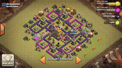 war base layout town hall level 7 war base town hall 7 th7 clash of clans pinterest