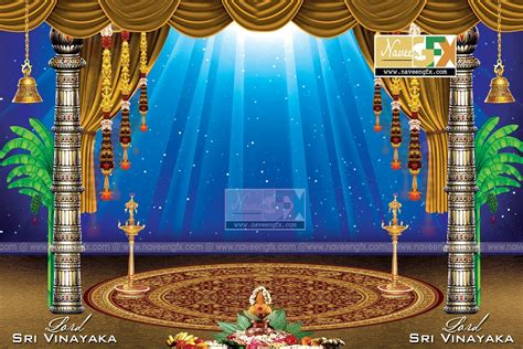 stage background design template creative stage background design for ganesh chaturthi