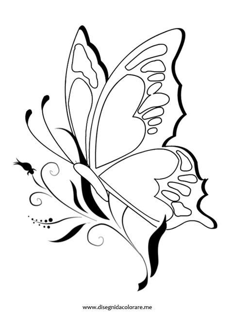 fiori e farfalle disegni farfalla sul fiore disegni da colorare
