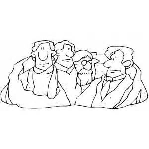 coloring page for mount rushmore mount rushmore coloring page