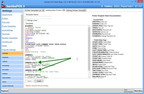 create php template creating printer templates sambapos v3