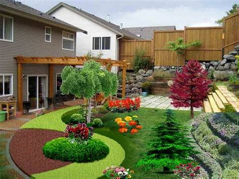 the simple easy backyard landscaping ideas and the way for decoration