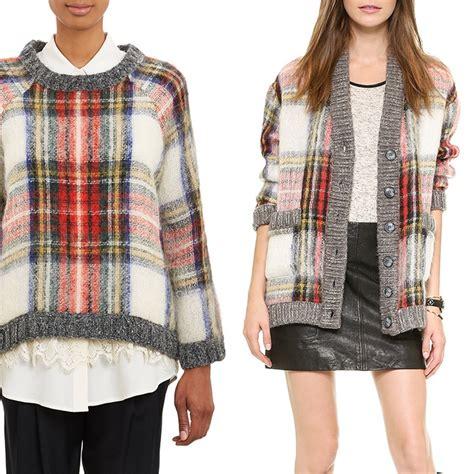 plaid sweater rank style sea oversized plaid cardigan and tartan plaid boxy sweater