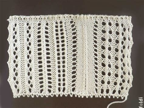 machine knit lace foldi lace swatches i