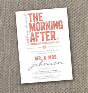 the morning after wedding brunch invitation 5 x 7 digital file